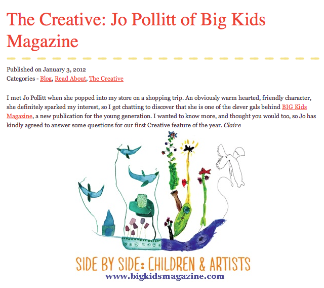 BIG Kids Magazine Jo Pollitt