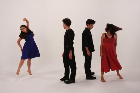 'The Dancer from the Dance', Karen with daughter Jadzea, son Sam and partner Richard James Allen