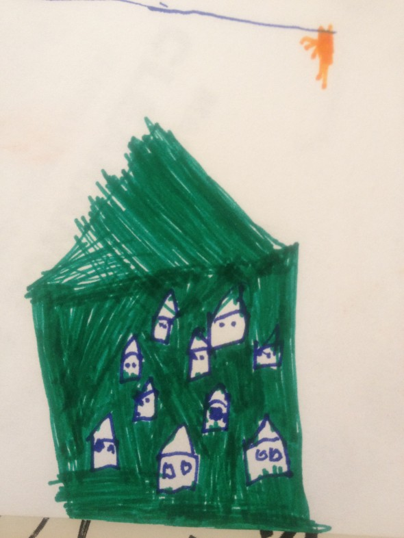 tiny houses by Sacha, age 7.