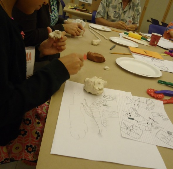 Designing and creating anthropomorphic creatures at the Side by Side workshop.