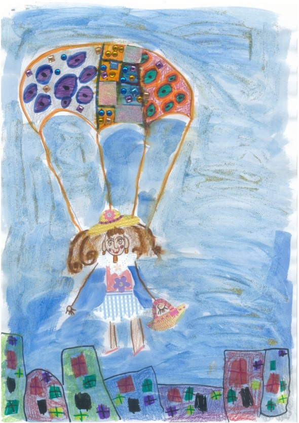 'Falling out of the sky' Anissa, age 5, Sydney Australia